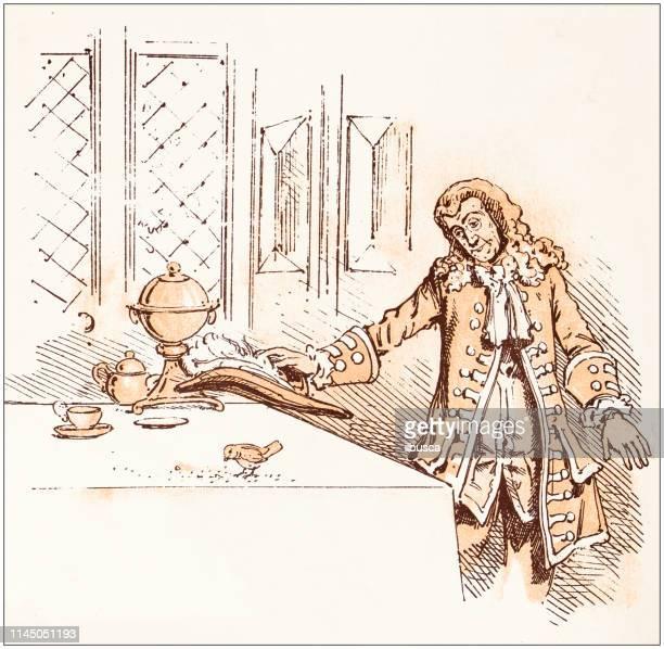 寓話の絵本からアンティークのイラスト: ロビンコンジャラー