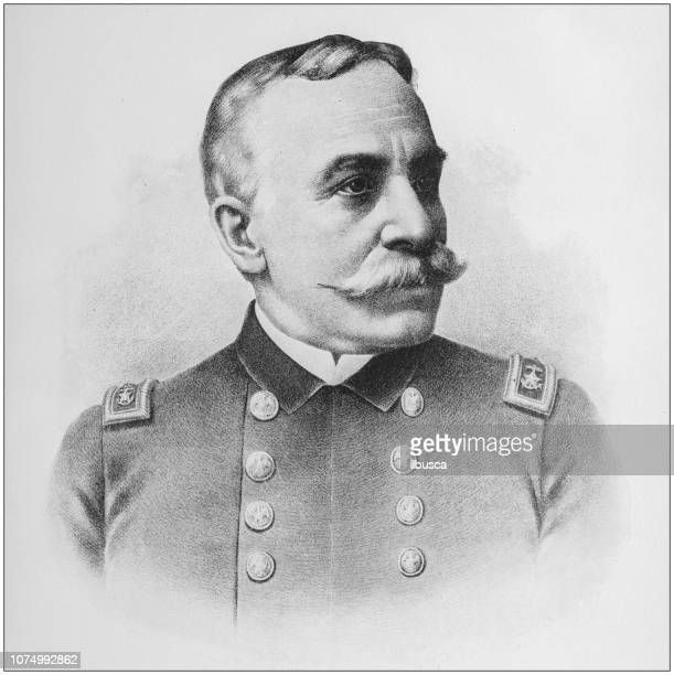 Antique illustration from US navy and army: Admiral George Dewey