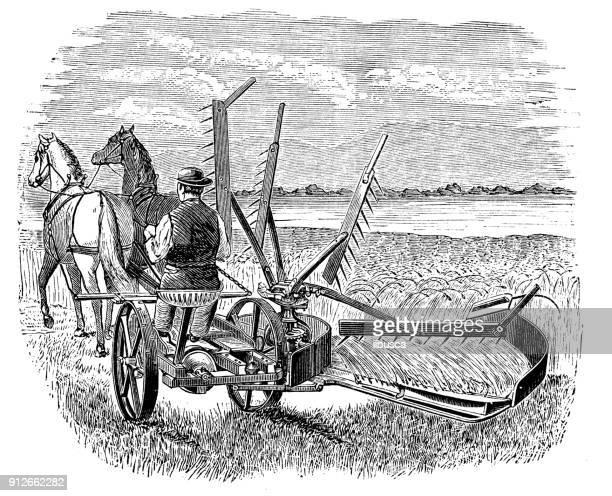 アンティーク イラスト: 収穫機 - 1900~1909年点のイラスト素材/クリップアート素材/マンガ素材/アイコン素材