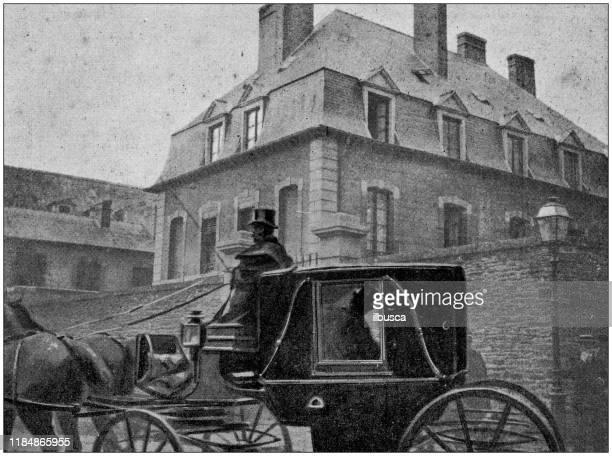 antique illustration - carriage stock illustrations