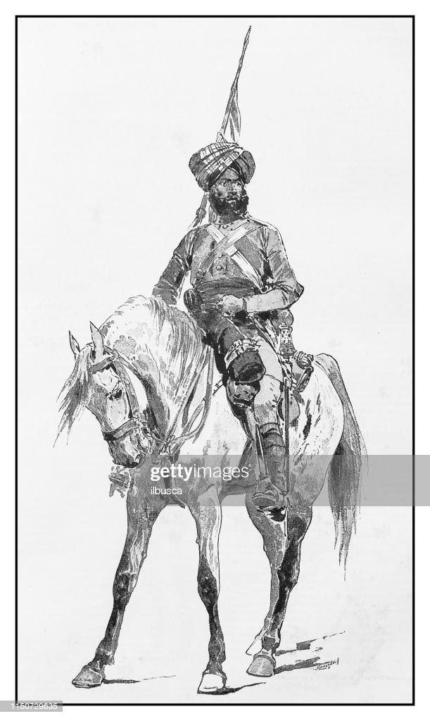 Antique Illustration Man On Horse High Res Vector Graphic Getty Images