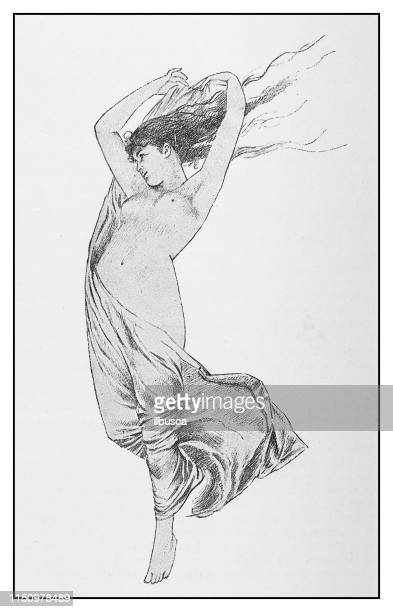 ilustraciones, imágenes clip art, dibujos animados e iconos de stock de ilustración antigua: mujer desnuda - mujer desnuda