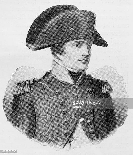 Antique illustration: Napoleon Bonaparte