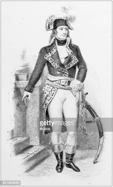 Antique illustration: Napoleon Bonaparte
