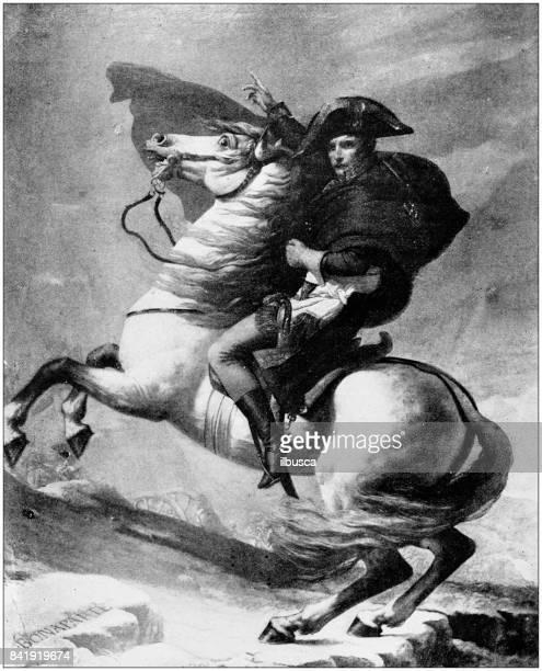 illustrations, cliparts, dessins animés et icônes de antique illustration: napoléon bonaparte - guerres napoléoniennes