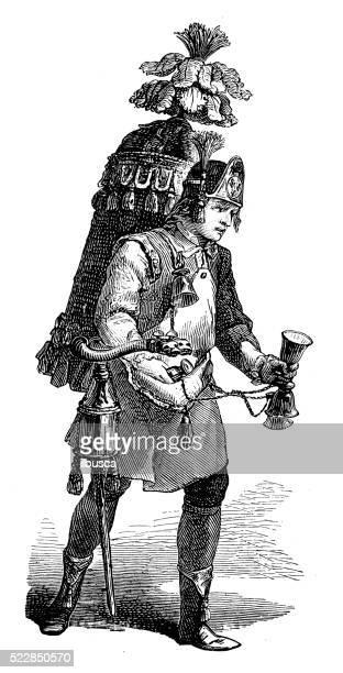 illustrations, cliparts, dessins animés et icônes de ancienne illustration de thé aux herbes du xviiie siècle, le vendeur ambulant - marchand