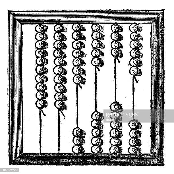 Antique illustration of abacus