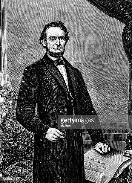 Antiguidade ilustração de Abraham Lincoln