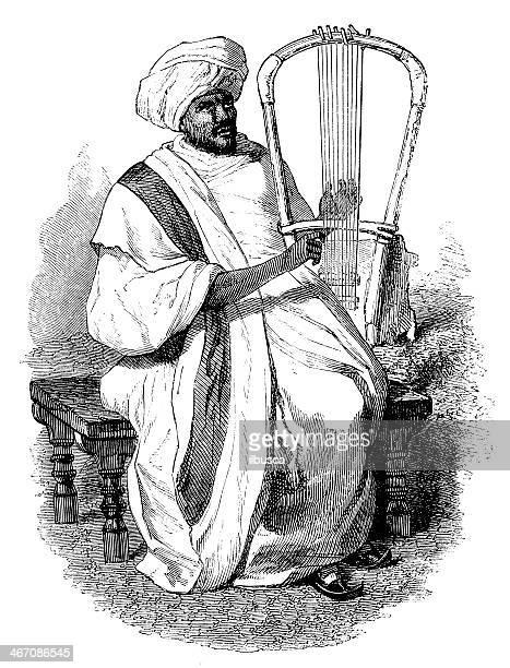 ilustrações, clipart, desenhos animados e ícones de antigo ilustração de abyssinian padre - ethiopia