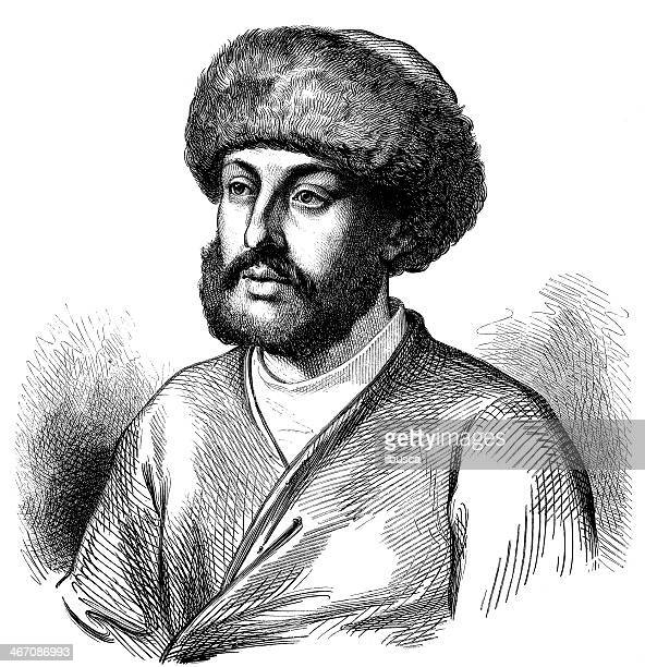Antique illustration of Alexandre Maurocordato