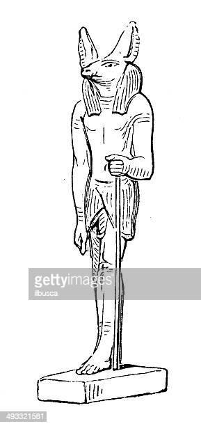 Anticuario ilustración de Anubis
