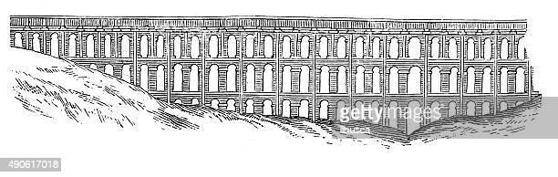 Anticuario ilustración del Acueducto de Caserta