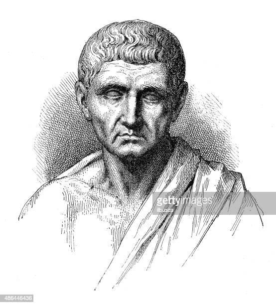 antique illustration of aristotele - aristotle stock illustrations