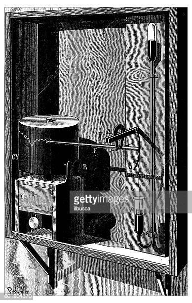 Antique illustration of barometer