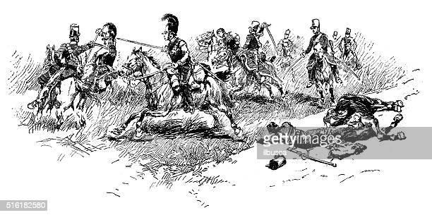 ilustraciones, imágenes clip art, dibujos animados e iconos de stock de anticuario ilustración de campo de batalla - matadero