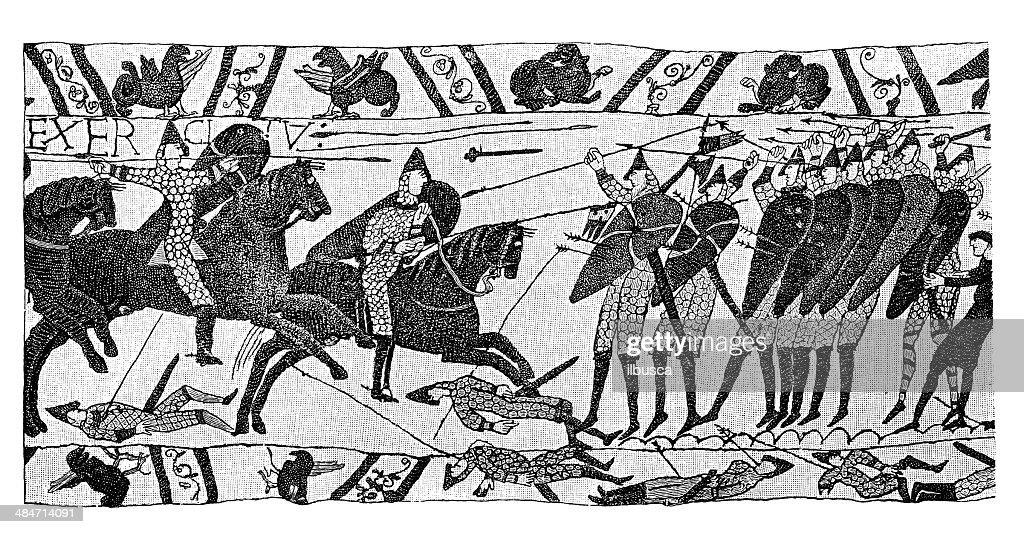 Antique illustration of Bayeux Tapestry : stock illustration