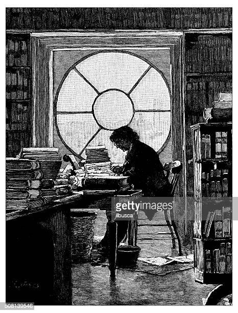 Antique illustration of Capitol library