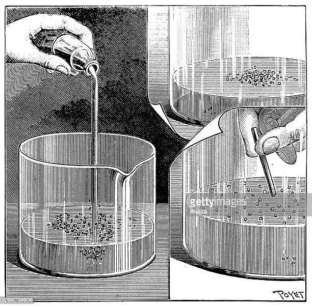 アンティークイラストレーションの化学実験 - 水銀点のイラスト素材/クリップアート素材/マンガ素材/アイコン素材