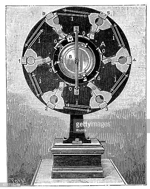 ilustrações de stock, clip art, desenhos animados e ícones de antiguidade ilustração de chronography (câmara de vídeo) - maquina fotografica antiga
