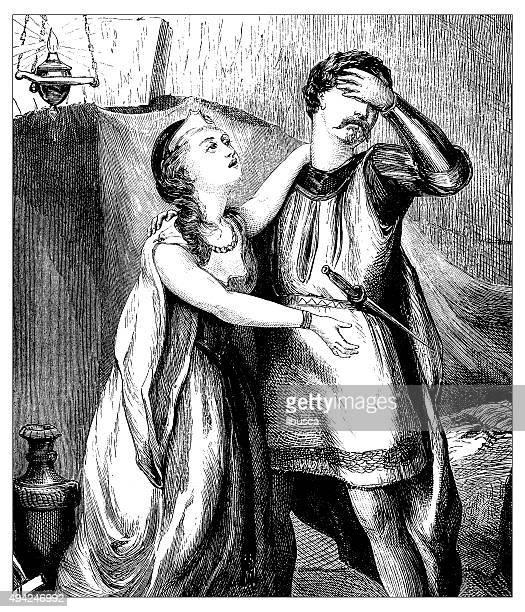 antique illustration of desperate prince - princess stock illustrations