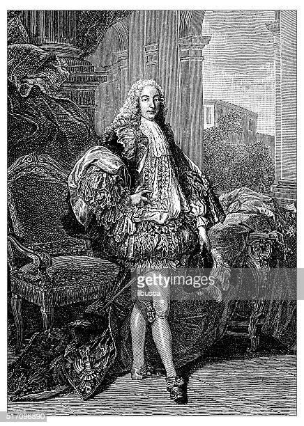 bildbanksillustrationer, clip art samt tecknat material och ikoner med antique illustration of duke of gesvres - duke