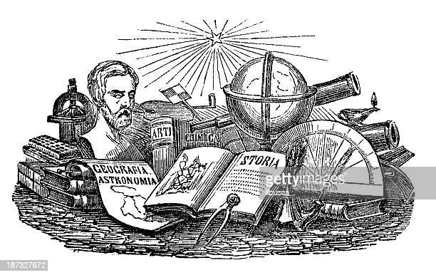 Antique illustration of Encyclopedia topics