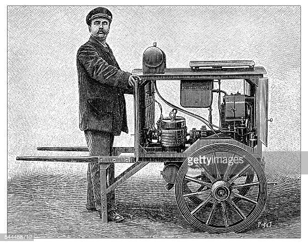 antique illustration of engine-generator - 19th century stock illustrations, clip art, cartoons, & icons