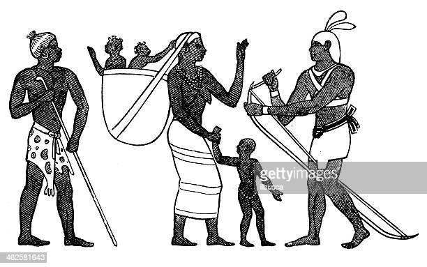 ilustrações, clipart, desenhos animados e ícones de antigo ilustração do povo etíope - ethiopia