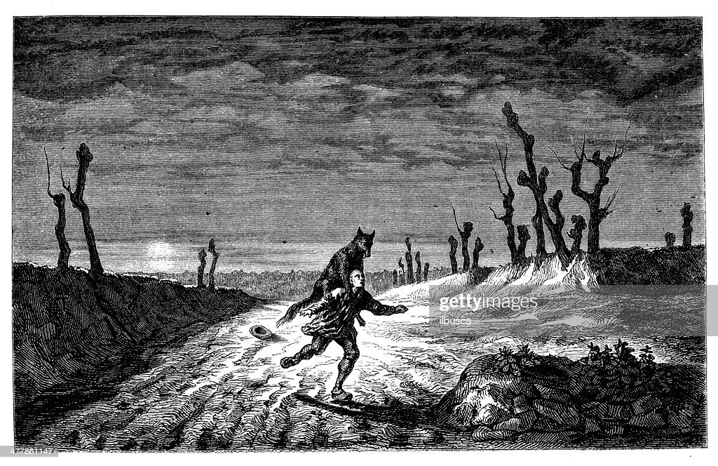 Antique illustration of fantasy story : stock illustration