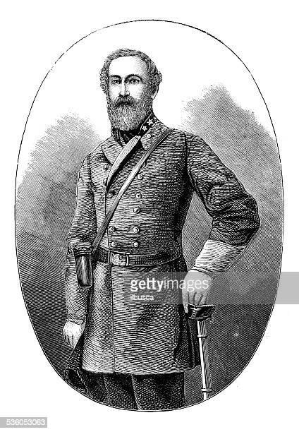 Antique illustration of general Robert Edward Lee