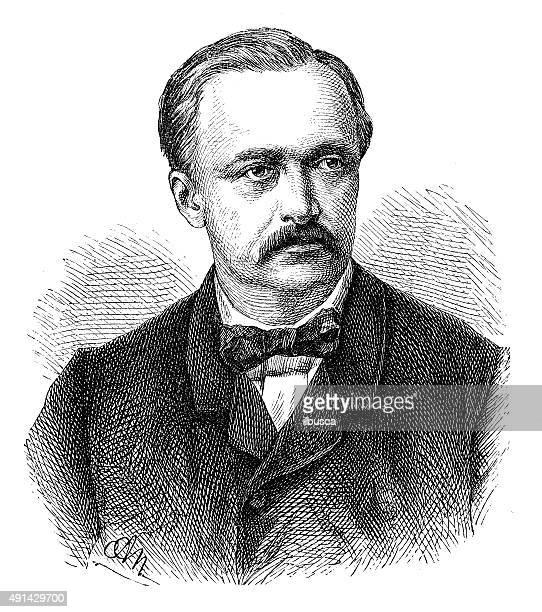 Antique illustration of Hermann Ludwig Ferdinand von Helmholtz