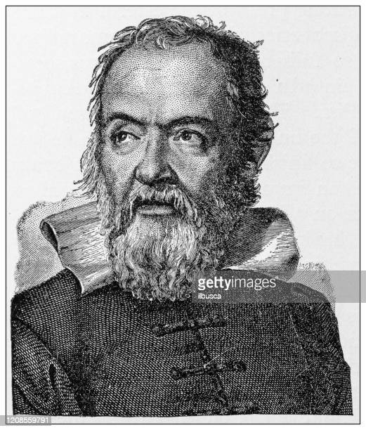 ilustrações de stock, clip art, desenhos animados e ícones de antique illustration of important people of the past: galileo galilei - galileu galilei