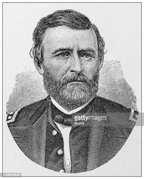 antique illustration of important people of the past: ulysses simpson grant - ulysses s grant stock illustrations