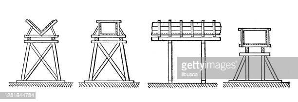"""illustrazioni stock, clip art, cartoni animati e icone di tendenza di antique illustration of irrigation system - """"ilbusca"""""""