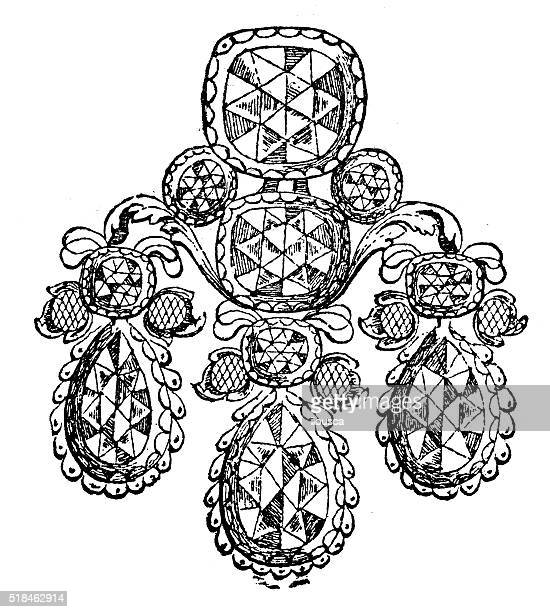 Antique illustration of jewel