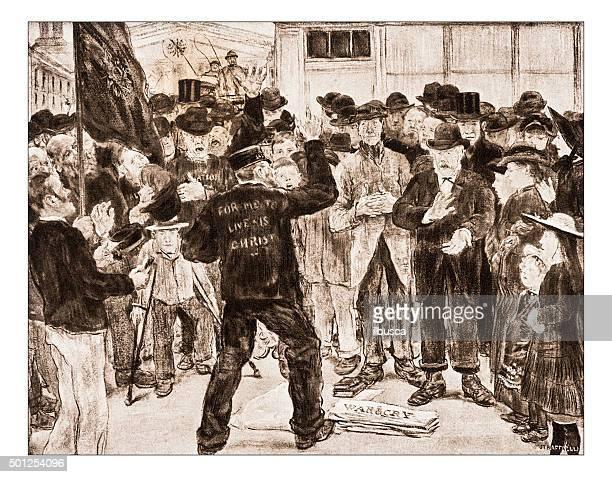 """Antigo ilustração de """"L'armee du de saudação Raffaelli"""","""