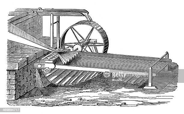 antique illustration of loom - loom stock illustrations