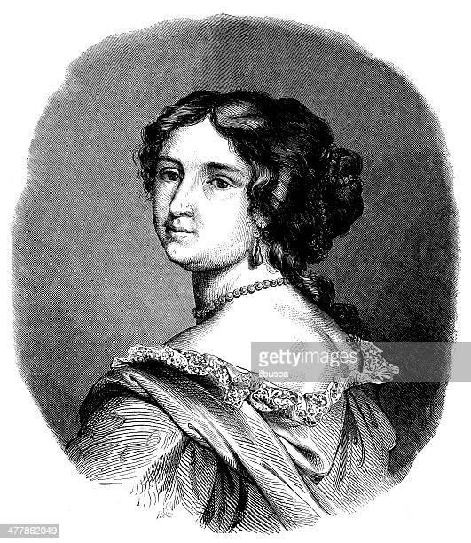 Antica illustrazione di Madame de Maintenon