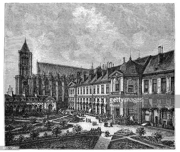 Antique illustration of Maison d'Éducation de la Légion d'Honneur, Saint-Denis