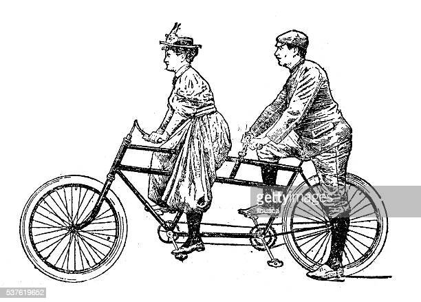 60 Top Tandem Bicycle Stock Illustrations, Clip art