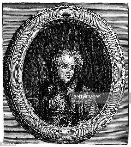Antique illustration of Marie Antoinette