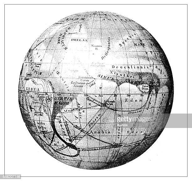 Antique illustration of Mars
