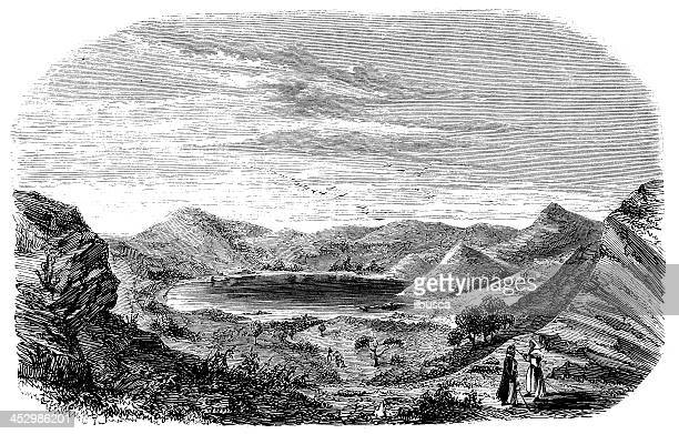 antique illustration of mayotte - seascape stock illustrations, clip art, cartoons, & icons