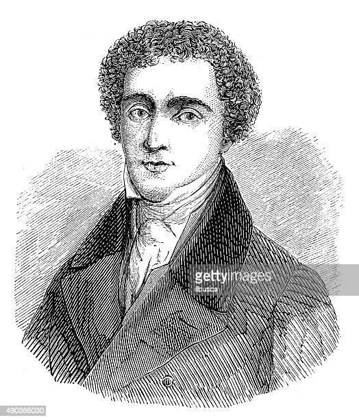 antique illustration of michael faraday - michael faraday stock illustrations, clip art, cartoons, & icons