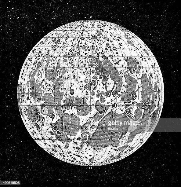 Antique Illustration Of Moon