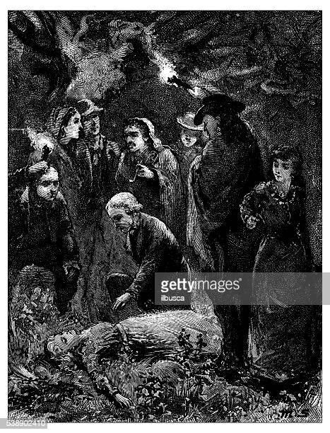 Anticuario ilustración de asesinato