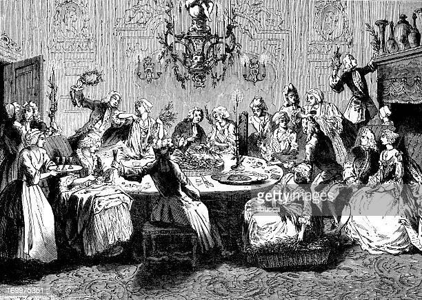 Antique illustration of Palmknoopen, old dutch celebration