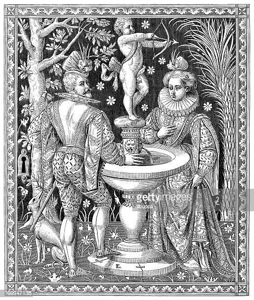illustrations, cliparts, dessins animés et icônes de ancienne illustration de philippe iii - cupidon