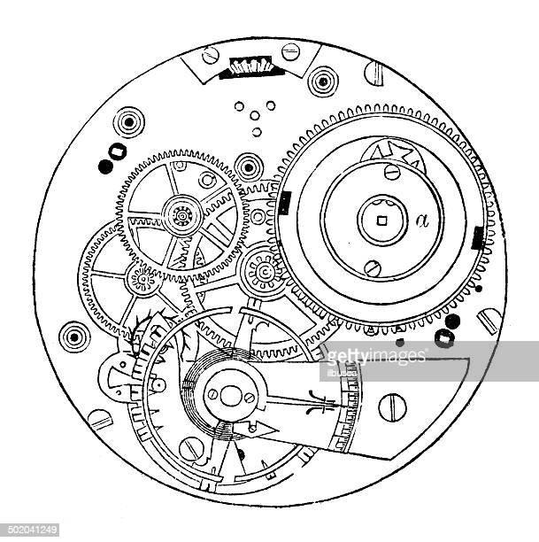 ilustraciones, imágenes clip art, dibujos animados e iconos de stock de anticuario ilustración de reloj de bolsillo - reloj de bolsillo