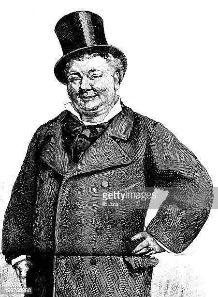 Antique illustration of portrait of a man (L'ami Doubrai)